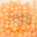 ลูกปัดมุก พลาสติก สีส้มพีชอ่อน 5มิล (1ขีด/100กรัม)