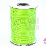 เชือกค๊อตต้อนเคลือบ สีเขียวสะท้อนแสง 1.0มิล(1ม้วน)(100หลา)