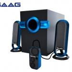มาอีกแล้วคร้าาบ!!! Mini Speaker SAAG Petonas 2.1 มาพร้อมเสียงมหาเทพ..เทพ..เทพ..เทพ!!!! การันตีสุดพลังว่าขั้นเทพจริงๆ ...เบสลึกมาก.มาพร้อมรีโมท ปรับเสียงอิสระ เสียงใสพริ้วไหวได้ดั่งใจ (อย่าช้าที..สินค้าใกล้หมดแล้วคร้าาบ)
