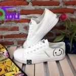 รองเท้าผ้าใบแฟชั่นเกาหลี สีขาว รุ่น231 เบอร์36-39
