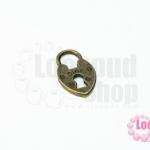 จี้ลูกกุญแจ สีทองเหลือง 12X19มิล(1ชิ้น)