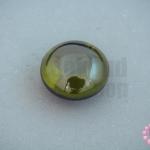 เพชรพญานาคหรือมณีใต้น้ำ กลมแบน ไม่มีรู สีเขียวขี้ม้า 20มิล(1ชิ้น)