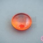 เพชรพญานาคหรือมณีใต้น้ำ กลมแบน ไม่มีรู สีส้ม 20มิล(1ชิ้น)