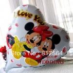 ลูกโป่งฟลอย์รูปหัวใจ Mickey Mouse พิมพ์ลาย I LOVE YOU ไซส์ 18 นิ้ว - Mickey Mouse I Love You Heart Shape Foil Balloon / Item No. TL-E004