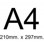 A4 (21 X 29.7 CM.)