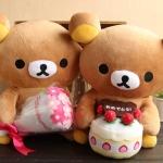 ตุ๊กตา Rilakkuma ถือช่อดอกไม้
