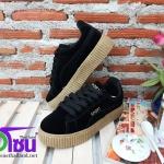 รองเท้าผ้าใบแฟชั่นเกาหลี สีดำ รุ่น205 เบอร์36-40
