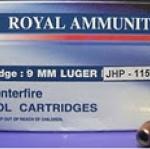 ลูกกระสุน 9มม. JHP Royal