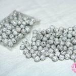 บอลเพชร เกรดดี สีขาวเพชรสีรุ้ง 10 มิล (1ห่อ/100ชิ้น)
