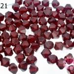 คริสตัลสวารอฟสกี้ (SWAROVSKI) สีแดงเหลือดหมู(208) 4มิล(100เม็ด)