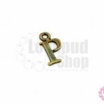จี้ทองเหลือง ตัวอักษร P 8X14 มิล(1ชิ้น)