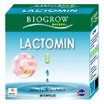 Biogrow Lactomin 60 แคปซูล ปรับสมดุลลำไส้ เสริมภูมิต้านทาน ด้วยจุลินทรีย์สุขภาพ(พรีไบโอติค)