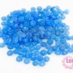 ลูกปัดแก้ว ทรงจานบิน สีน้ำเงิน 5มิล (1ขีด/947ชิ้น)