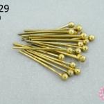ตะปูหัวหมุด สีทองเหลือง (หนา) 20มิล (10กรัม)