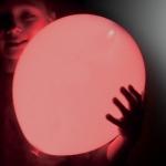 ลูกโป่ง LED สีแดง แพ็ค 5 ชิ้น ไฟสว่างเหมือนโคมไฟ (LED Red Balloon - LED Fixed Mode)