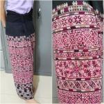 กางเกงปักโทนสีชมพู สำหรับผู้หญิง