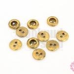 กระดุมพลาสติก สีโลหะ สีทองเหลือง 11มิล(10ชิ้น)