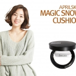April Skin Magic Snow CC Cushion SPF50+ PA+++(ส่งฟรีEMS) ตลับสีดำ เหมาะกับผิวมันชชั่นหิมะบางเบา แต้ปกปิดได้เนียนกริบ มอบความชุ่มชื้น ฉ่ำวาว ให้ผิวของคุณดูมีสุขภาพดีจริงๆ ปกปิดจุดด่างดำ รอยสิว และจุดบกพร่องต่างๆบนใบหน้าได้เนียนกริบ แต่บางเบา เป็นธรรมชาติมา