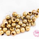ลูกปัดทองเหลือง กลม 6มิล 100g (420เม็ด)