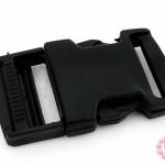 ตัวปรับสายกระเป๋า พลาสติก สีดำ 32X58มิล(1ชุด)