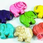 หินเทอร์ควอย์แฟนซี ช้าง 39x30มิล