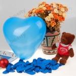 """ลูกโป่งหัวใจ สีน้ำเงินไซส์ 11 นิ้ว แพ็คละ 10 ใบ (Heart Latex Balloon - Royal Blue Color 11"""")"""