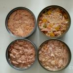 อาหารกระป๋องเปลือยขนาด 160-180 กรัม รสปลาทูน่าเนื้อขาว -ในน้ำซุบหรือในน้ำแร่ แพค 12 กะป็อง