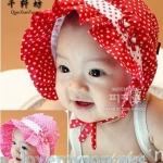 หมวกเด็กหญิงสีแดง สีชมพูเข้ม MC135