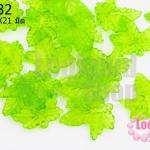 จี้ใบไม้ พลาสติก สีเขียวอ่อน 20X21มิล(1ขีด/100กรัม)