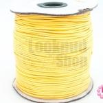 เชือกค๊อตต้อนเคลือบ สีเหลือง 1.5มิล(1ม้วน)(100หลา)