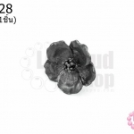 กระดุมโลหะ ดอกซากุระ สีรมดำ 21มิล(1ชิ้น)