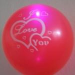ลูกโป่งคละสี พิมพ์ลาย I Love You แพ็ค 5 ชิ้น ไฟกระพริบ (Mixed color I Love You latex Balloon - LED RGB Mode)