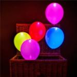 ลูกโป่ง LED คละสี แพ็ค 5 ชิ้น ไฟค้าง (LED Multi Color Balloon - LED Fixed Mode)