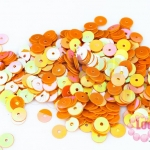 เลื่อมกลม สีส้มเหลือบ 6มิล