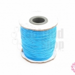 เชือกค๊อตต้อนเคลือบ สีฟ้า 0.5มิล(1ม้วน)(100หลา)