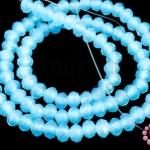 คริสตัลจีน ทรงซาลาเปา สีฟ้าขุ่น 4มิล(1เส้น)