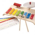 ของเล่นไม้ ของเล่นเด็ก ของเล่นเสริมพัฒนาการ Musical Set ชุดรวมเครื่องดนตรี (ส่งฟรี)