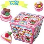 Kutsuwa eraser kit : ชุดทำยางลบ เค้ก (ใช้ไมโครเวฟ) !!!ทานไม่ได้!!!