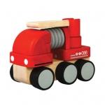 ของเล่นไม้ ของเล่นเด็ก ของเล่นเสริมพัฒนาการ Mini Fire Engine รถดับเพลิง (ส่งฟรี)