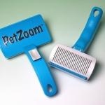 หวีแปรงอัติโนมัติช่วยดันเส้นขนสัตว์ออกจากแปรง Pet Zoom