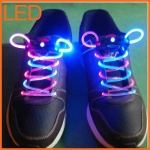 เชือกผูกรองเท้าไฟ LED สีฟ้า/สีชมพู Shoelace - LED Blue/Pink color