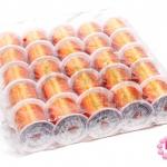 เอ็นยืด สีส้ม ม้วนเล็ก (25ม้วน)