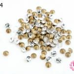 เพชรตูดแหลม สีขาวใส 4มิล #14 (100เม็ด)