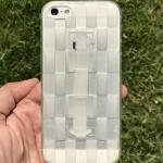 ** พร้อมส่งค่ะ ** เคส iPhone 5/5s/se ลายสาน สีขาวใส