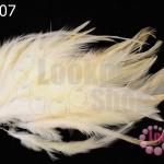 ขนนก(ก้าน) สีขาวครีม (20 ชิ้น)
