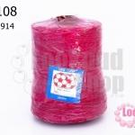 เชือกเทียน ตราลูกบอล(ม้วนใหญ่) สีบานเย็น #914 (1ม้วน)