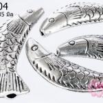 ตัวแต่งโรเดียม ทรงกระบอก รูปปลาเกล็ด กว้าง 9 มิลยาว 35 มิล
