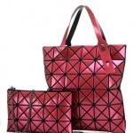 กระเป๋าแฟชั่นเกาหลีพร้อมส่ง รหัส SUIF0228RP SET 2 ใบสีแดงอมชมพู สวยน่ารักน่าใข้ค่ะ