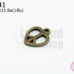 จี้ทองเหลือง รูปหัวใจ 12X15มิล (1ชิ้น)
