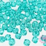 คริสตัลสวารอฟสกี้ (SWAROVSKI) สีเขียวใส(229) 4มิล(100เม็ด)